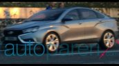 Lada Vesta Concept spied in Russia front three quarter