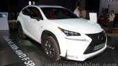 Lexus NX 300h at the 2014 Moscow Motor Show front quarter
