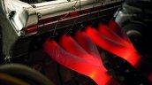 Lightweight Jaguar E-Type press image exhaust manifold