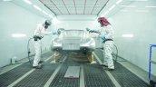 Lightweight Jaguar E-Type press image paiting process