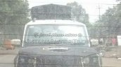 Mahindra Scorpio facelift spied front