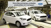 New Ford Ka production start press shot side