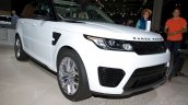 Range Rover Sport SVR at the 2014 Moscow Motor Show front quarter