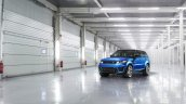 Range Rover Sport SVR press image parked front three quarter