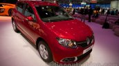 Renault Sandero front three quarters left at Moscow Motor Show 2014