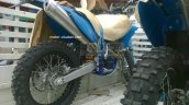Sherco 4.5i spotted in India for TVS-BMW JV benchmarking swing arm
