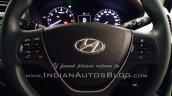 Spied 2015 Hyundai Elite i20 steering