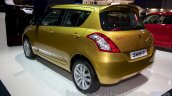 Suzuki Swift facelift rear three quarters at the 2014 Moscow Motor Show