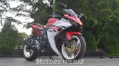 Yamaha R25 modified in Indonesia front three quarter right