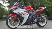 Yamaha R25 modified in Indonesia front three quarter