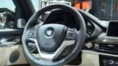 2015 BMW X6 steering wheel at the 2014 Paris Motor Show