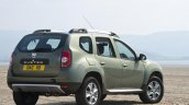 2015 Dacia Duster for UK rear three quarters press image