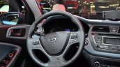 2015 Hyundai i20 steering wheel at the 2014 Paris Motor Show