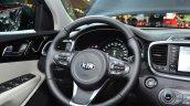 2015 Kia Sorento steering wheel at the 2014 Paris Motor Show