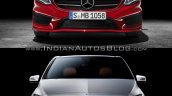2015 Mercedes B Class facelift vs older model front