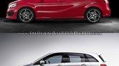 2015 Mercedes B Class facelift vs older model side