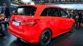 2015 Mercedes B Class rear three quarter at the 2014 Paris Motor Show