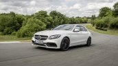 2015 Mercedes C 63 AMG S front three quarters in motion press image