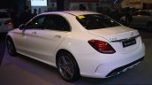 2015 Mercedes C Class at the 2014 Philippines Motor Show rear quarter