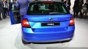 2015 Skoda Fabia rear at the 2014 Paris Motor Show