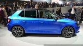 2015 Skoda Fabia side at the 2014 Paris Motor Show
