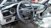 Audi A6 facelift cockpit at the 2014 Paris Motor Show