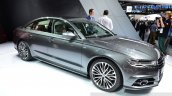 Audi A6 facelift front three quarter view at the 2014 Paris Motor Show