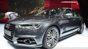 Audi A6 facelift front three quarters right view at the 2014 Paris Motor Show