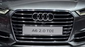 Audi A6 facelift grille at the 2014 Paris Motor Show