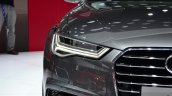 Audi A6 facelift headlamp at the 2014 Paris Motor Show