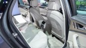 Audi A6 facelift rear seat ingress at the 2014 Paris Motor Show