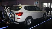 BMW X3 facelift rear three quarters at 2014 Philippines Motor Show
