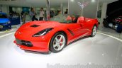 Chevrolet Corvette Stingray convertible front three quarters at the Indonesia International Motor Show 2014