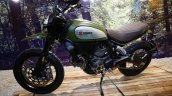 Ducati Scrambler green profile at INTERMOT 2014