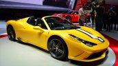 Ferrari 458 Speciale Aperta front three quarter at the 2014 Paris Motor Show