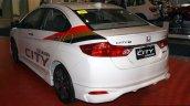 Honda City Mugen rear three quarter at the Philippines Internatinal Motor Show 2014