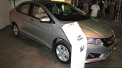 Honda City front right three quarter at the 2014 Nepal Auto Show