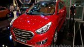 Hyundai Tucson front three quarters right at the 2014 Indonesia International Motor Show