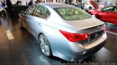 Infiniti Q50 Hybrid rear three quarters left at the 2014 Indonesia International Motor Show