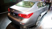 Infiniti Q50 Hybrid rear three quarters right at the 2014 Indonesia International Motor Show