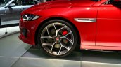 Jaguar XE S front wheel at the 2014 Paris Motor Show