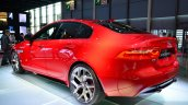 Jaguar XE S rear three quarters left at the 2014 Paris Motor Show