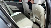 Jaguar XE rear knee room at the 2014 Paris Motor Show