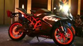 KTM RC200 side view at the Indian launch