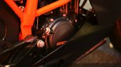 KTM RC200 transmission at the Indian launch