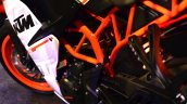 KTM RC390 engine compartment at the Indian launch