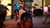 KTM RC390 front profile at the Indian launch