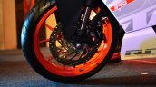 KTM RC390 front wheel at the Indian launch