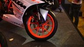 KTM RC390 front wheel left at the Indian launch