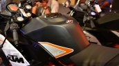 KTM RC390 fuel tank seat at the Indian launch